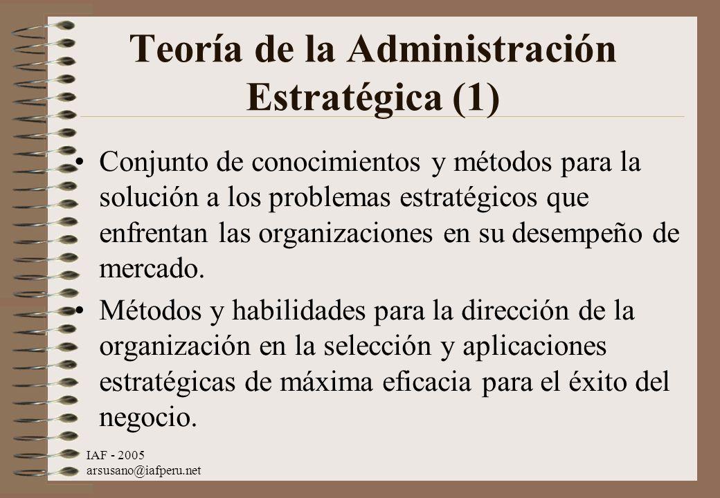 Teoría de la Administración Estratégica (1)