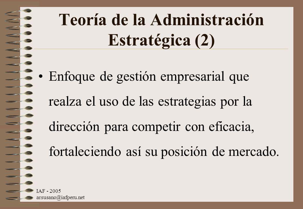 Teoría de la Administración Estratégica (2)