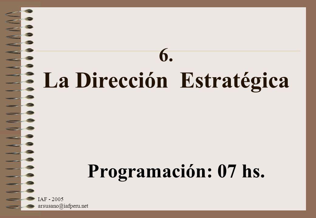 6. La Dirección Estratégica