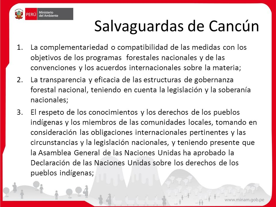 Salvaguardas de Cancún