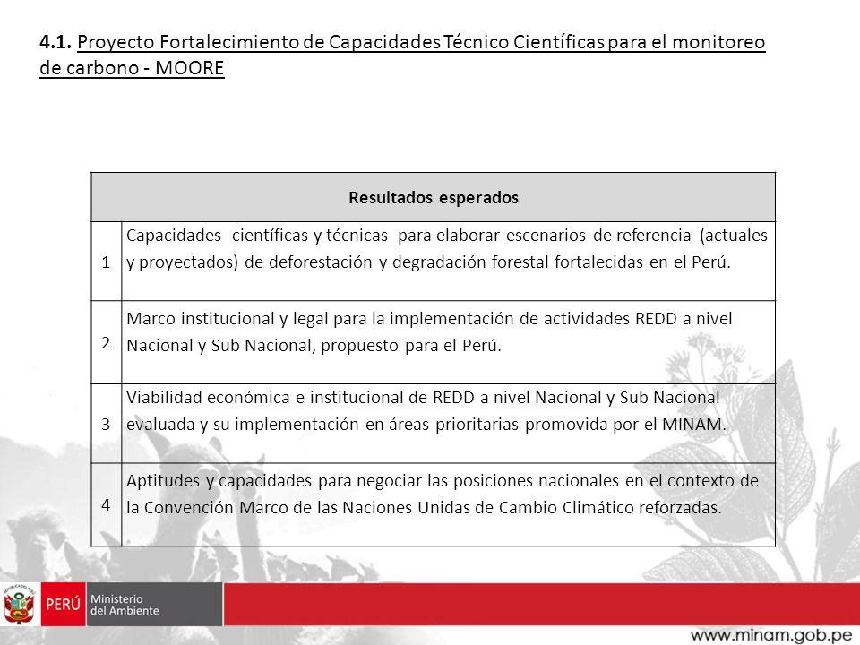 4.1. Proyecto Fortalecimiento de Capacidades Técnico Científicas para el monitoreo de carbono - MOORE