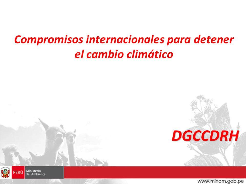 Compromisos internacionales para detener el cambio climático