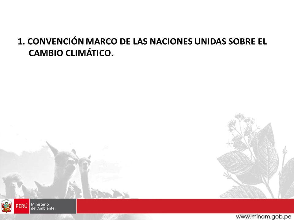 1. CONVENCIÓN MARCO DE LAS NACIONES UNIDAS SOBRE EL CAMBIO CLIMÁTICO.
