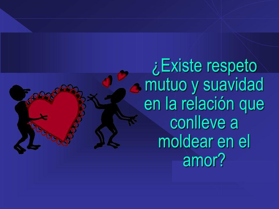 ¿Existe respeto mutuo y suavidad en la relación que conlleve a moldear en el amor