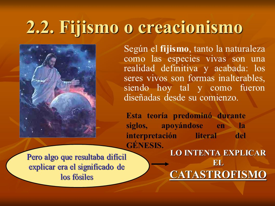 2.2. Fijismo o creacionismo