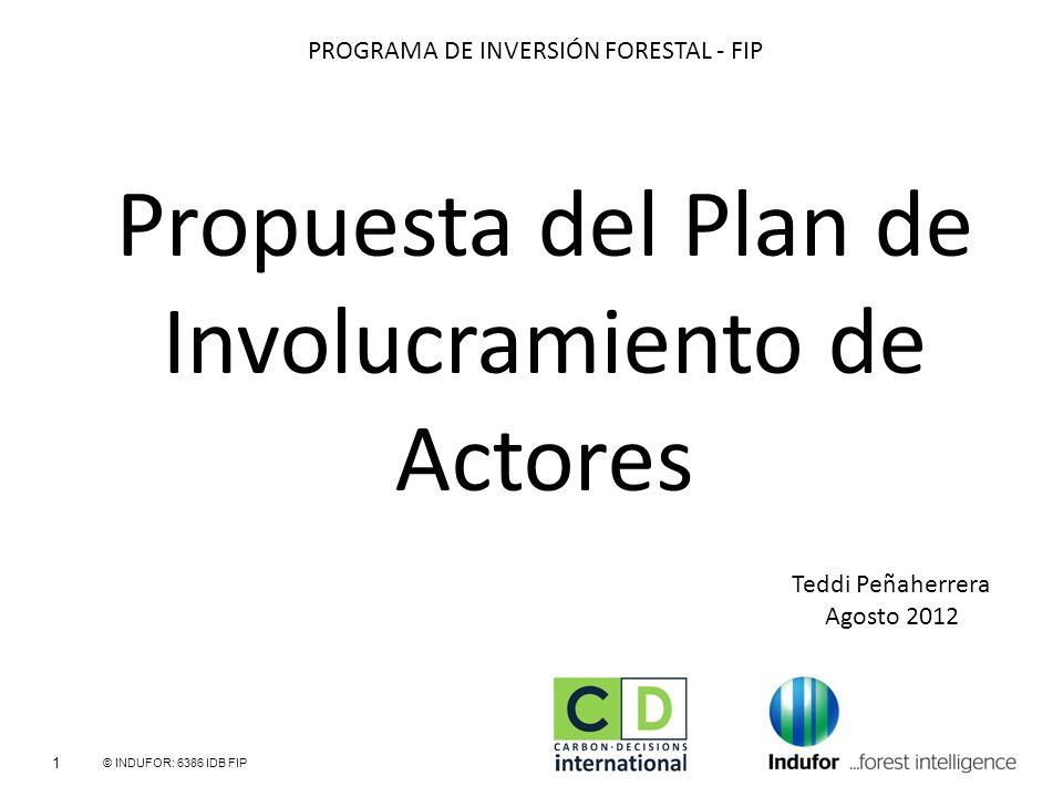 Propuesta del Plan de Involucramiento de Actores