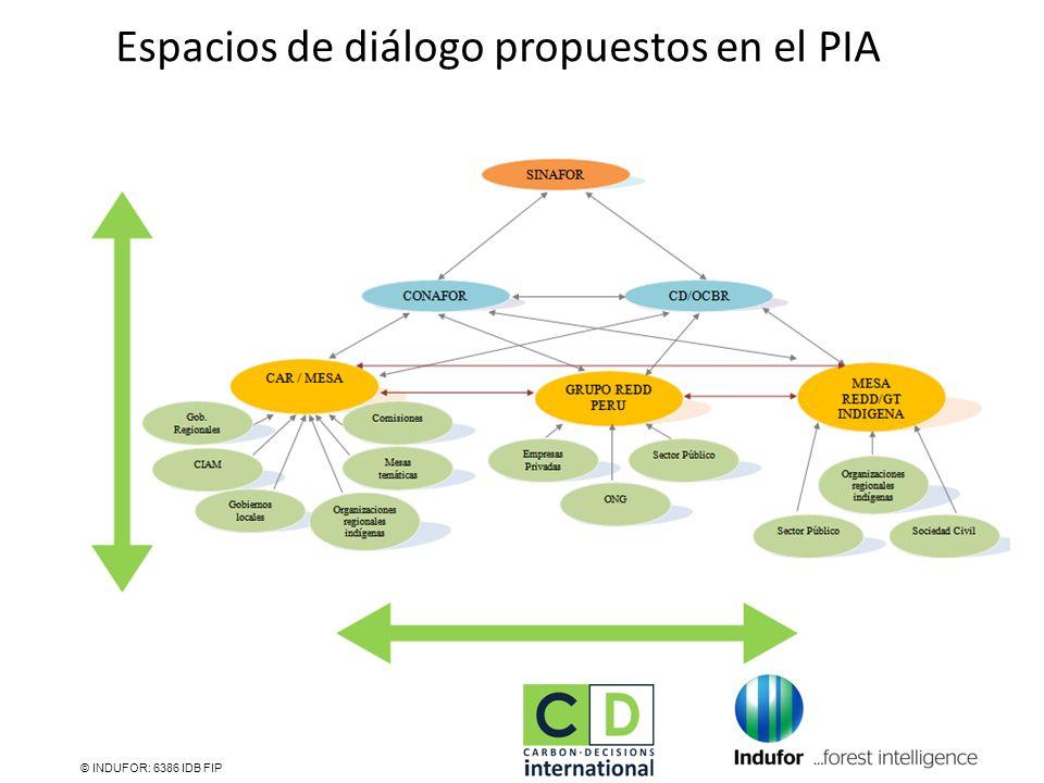 Espacios de diálogo propuestos en el PIA