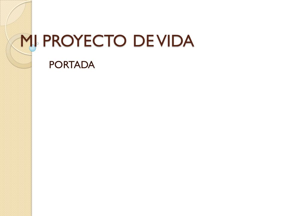 MI PROYECTO DE VIDA PORTADA