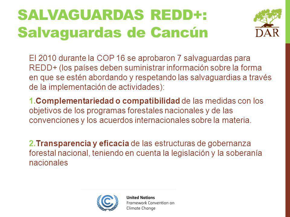 SALVAGUARDAS REDD+: Salvaguardas de Cancún