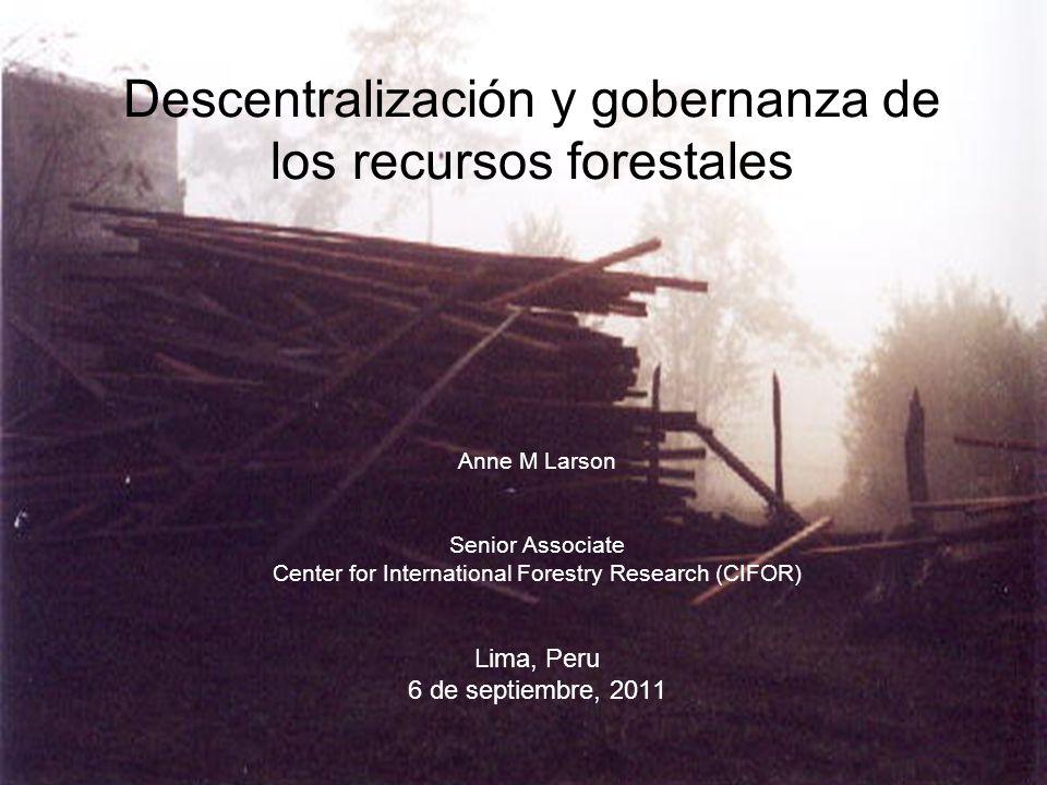Descentralización y gobernanza de los recursos forestales