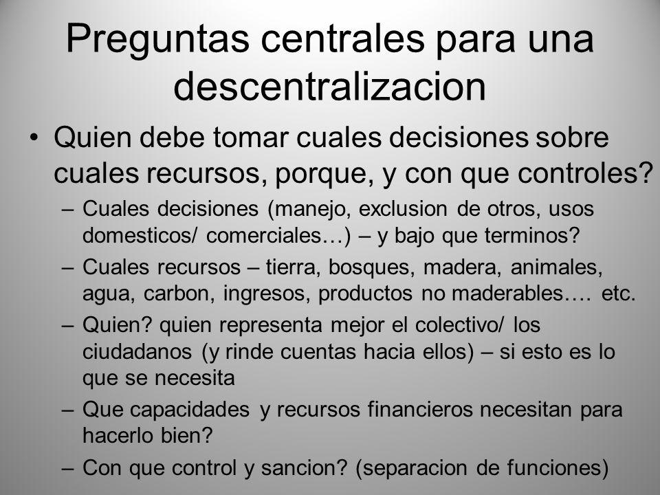 Preguntas centrales para una descentralizacion