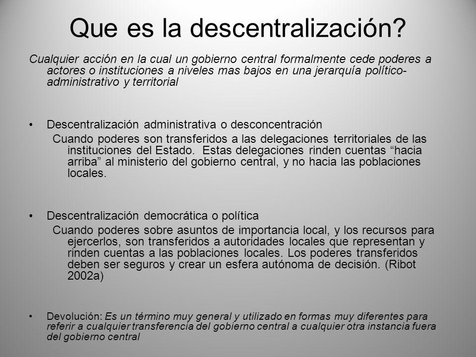 Que es la descentralización