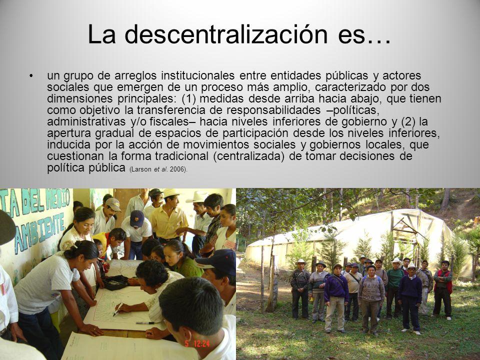 La descentralización es…