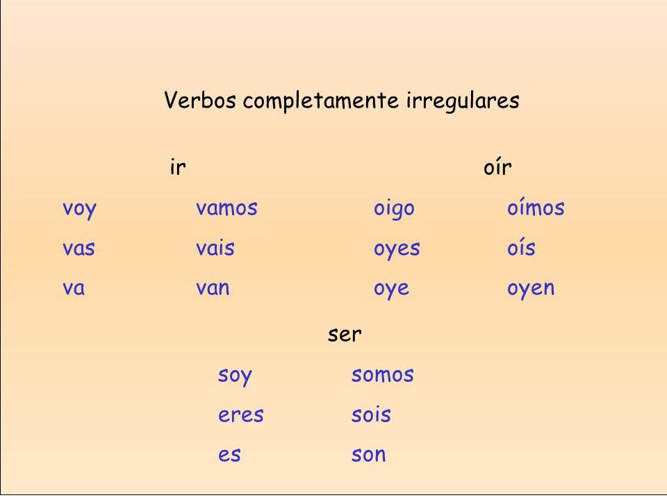 Verbos completamente irregulares