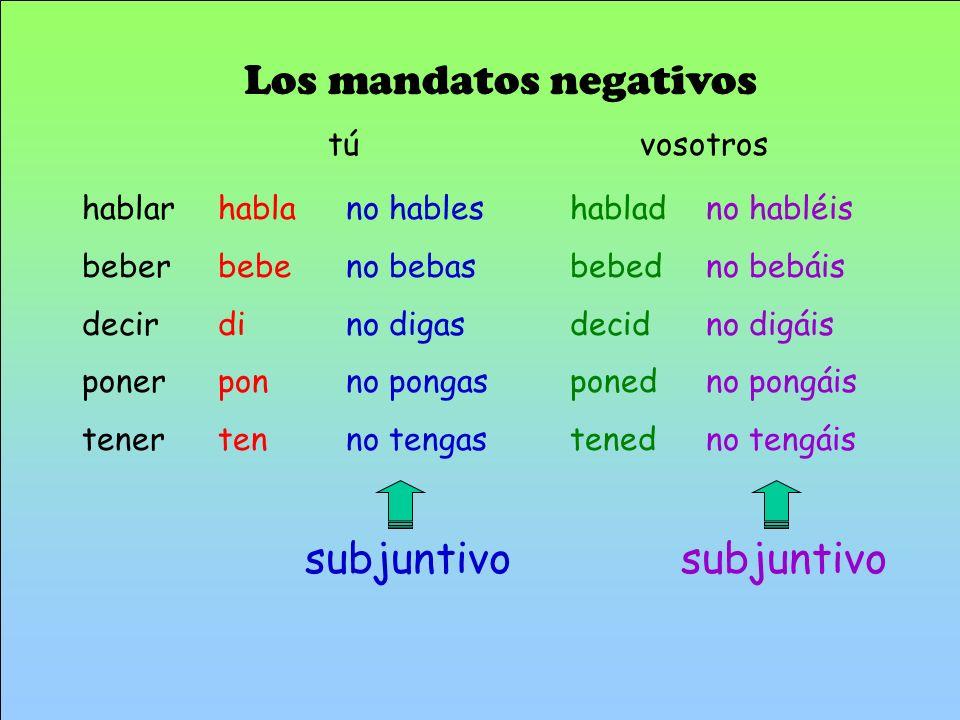 Los mandatos negativos