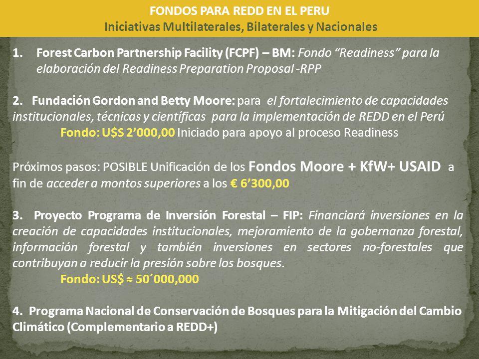 FONDOS PARA REDD EN EL PERU