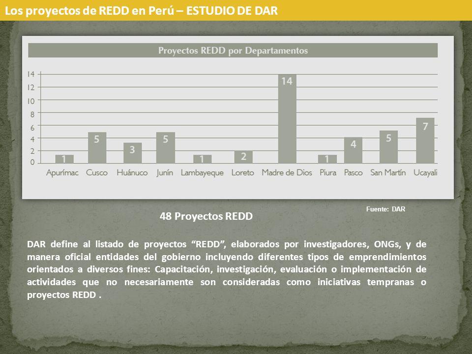 Los proyectos de REDD en Perú – ESTUDIO DE DAR