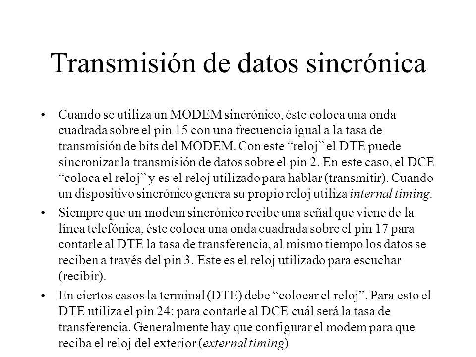 Transmisión de datos sincrónica