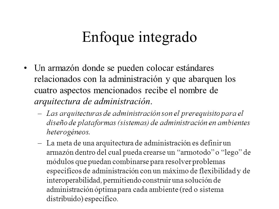 Enfoque integrado