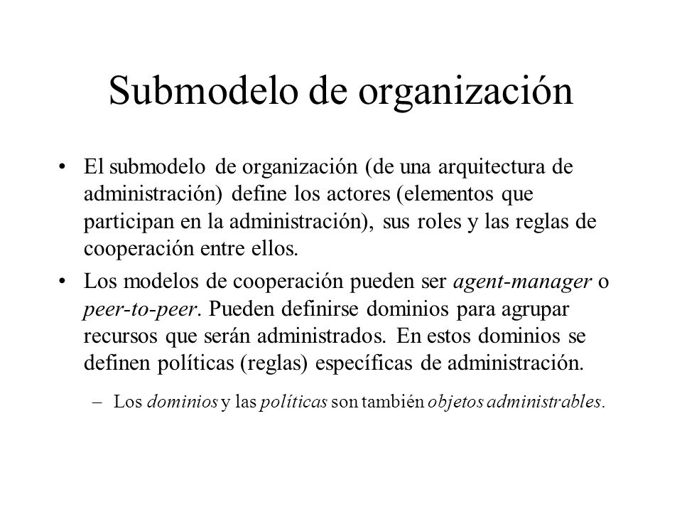 Submodelo de organización