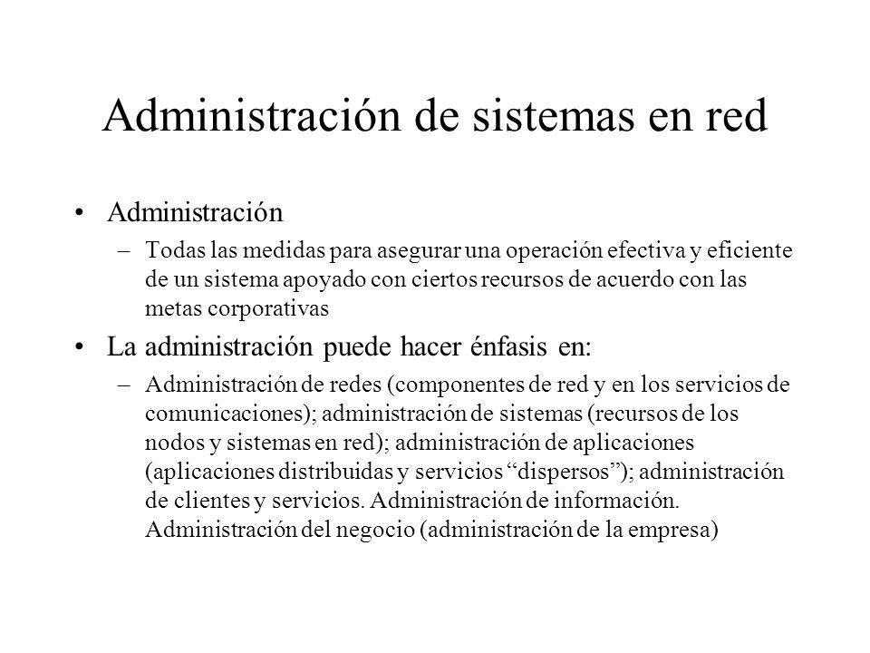 Administración de sistemas en red