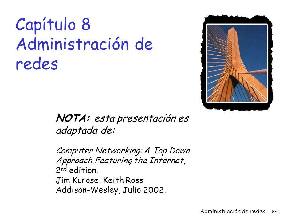 Capítulo 8 Administración de redes