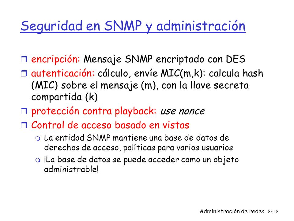 Seguridad en SNMP y administración