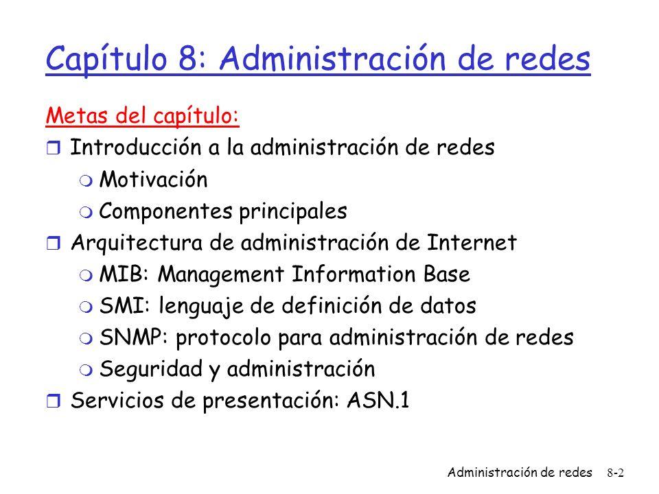 Capítulo 8: Administración de redes