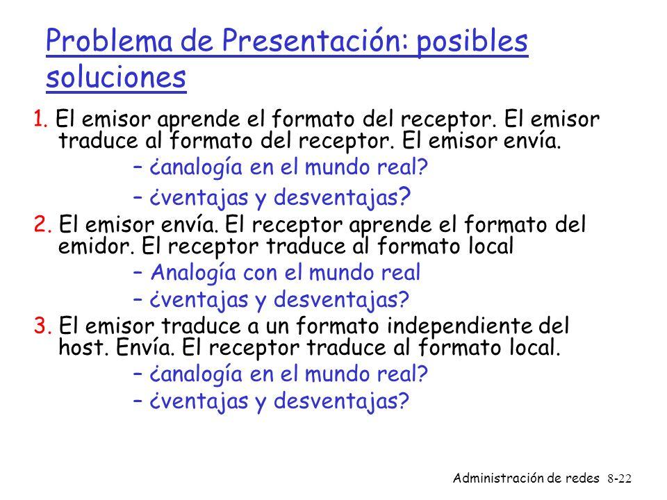 Problema de Presentación: posibles soluciones