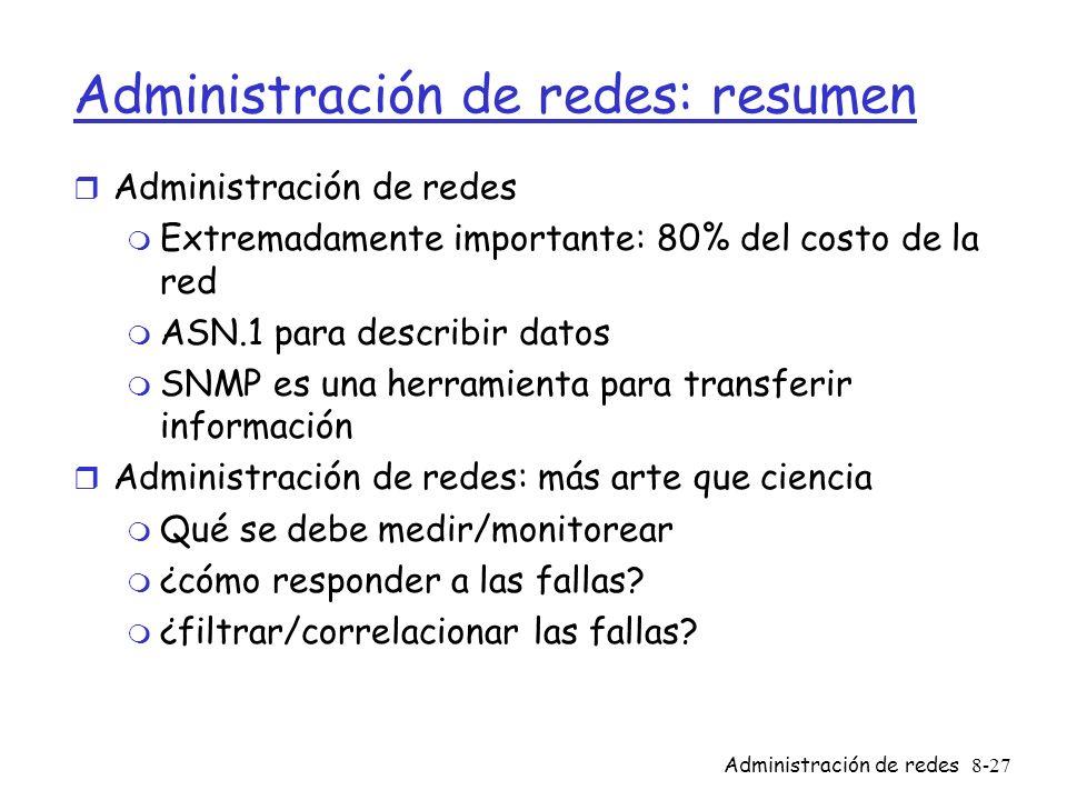 Administración de redes: resumen