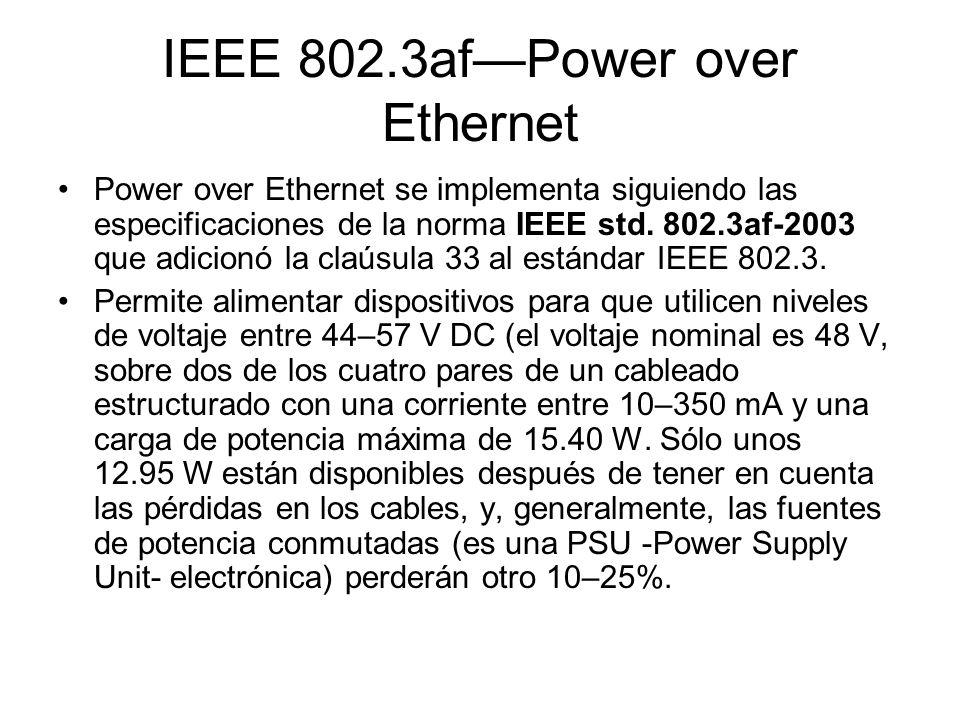 IEEE 802.3af—Power over Ethernet