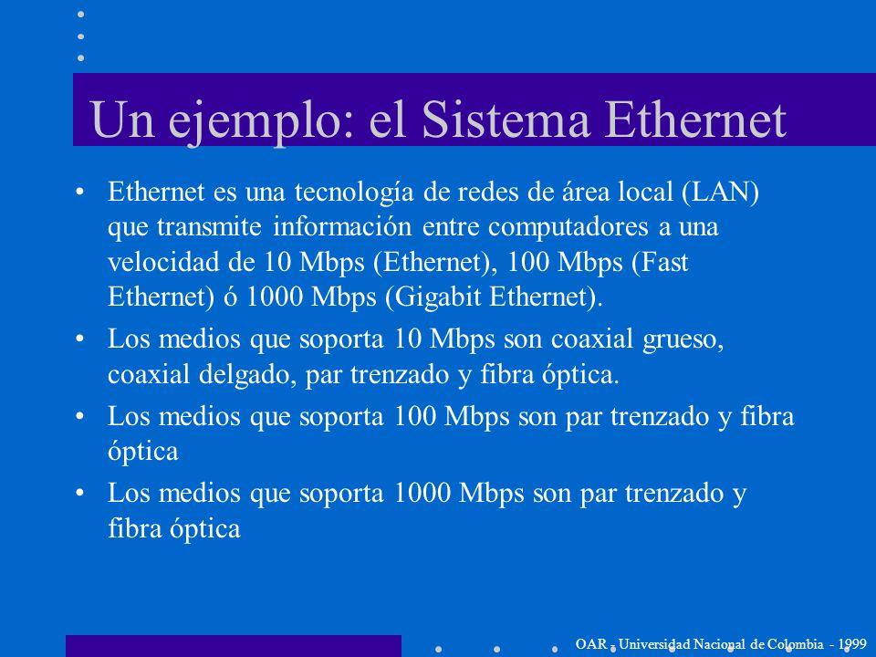 Un ejemplo: el Sistema Ethernet