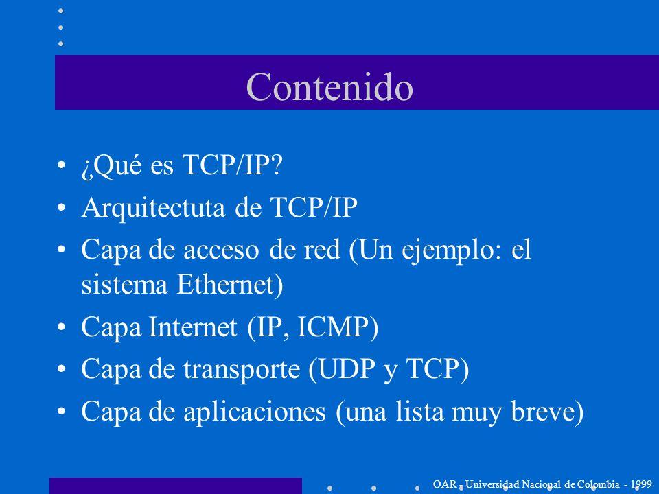 Contenido ¿Qué es TCP/IP Arquitectuta de TCP/IP