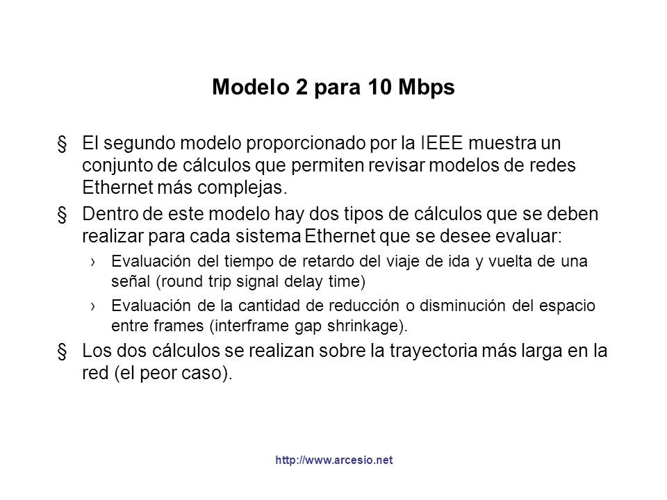 Modelo 2 para 10 Mbps