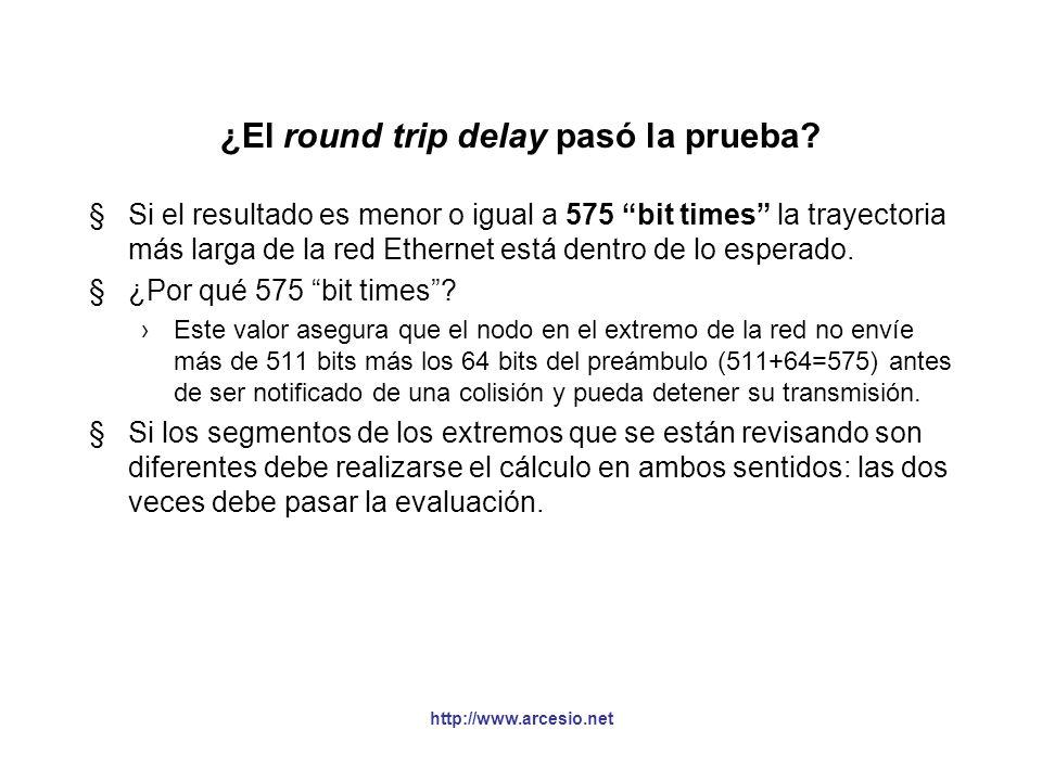 ¿El round trip delay pasó la prueba