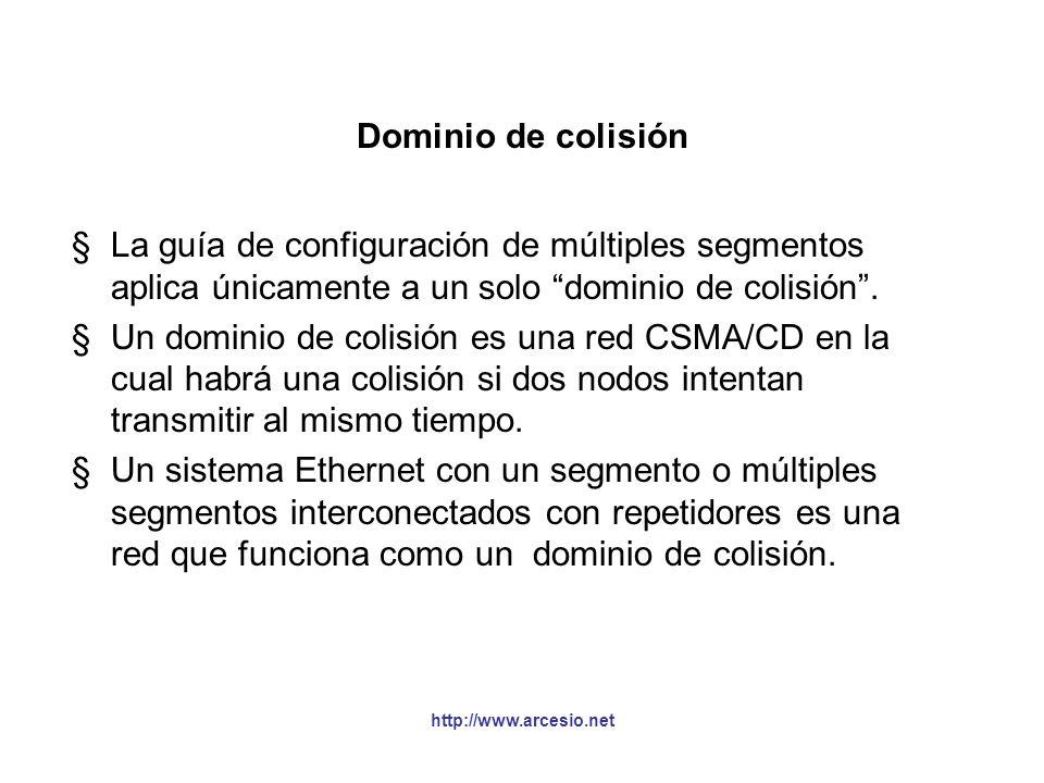 Dominio de colisión La guía de configuración de múltiples segmentos aplica únicamente a un solo dominio de colisión .