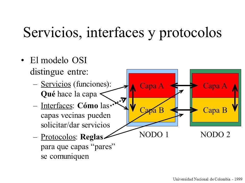 Servicios, interfaces y protocolos