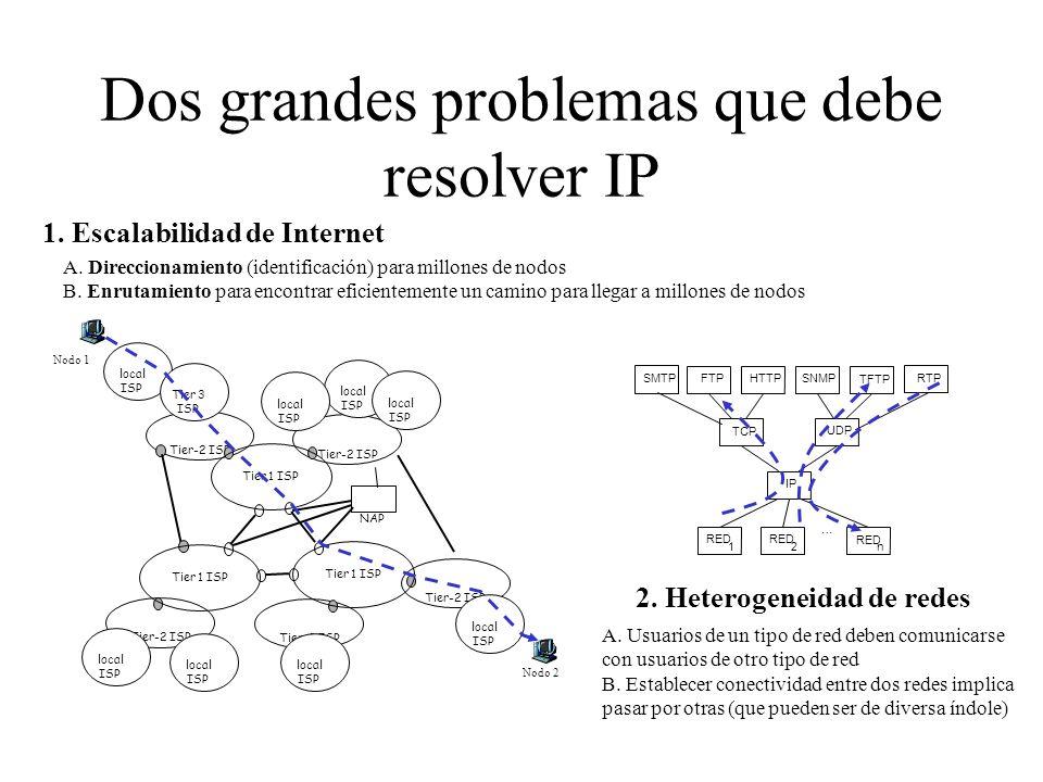 Dos grandes problemas que debe resolver IP