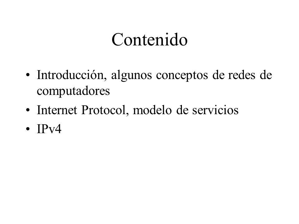 Contenido Introducción, algunos conceptos de redes de computadores