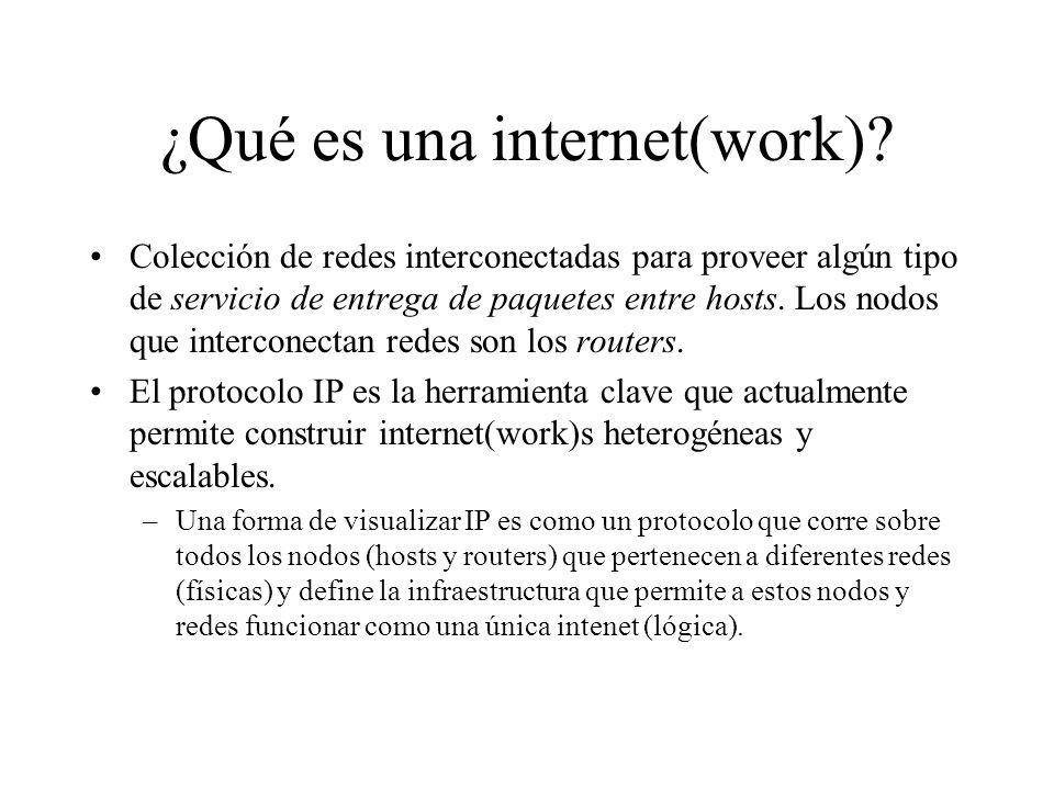 ¿Qué es una internet(work)