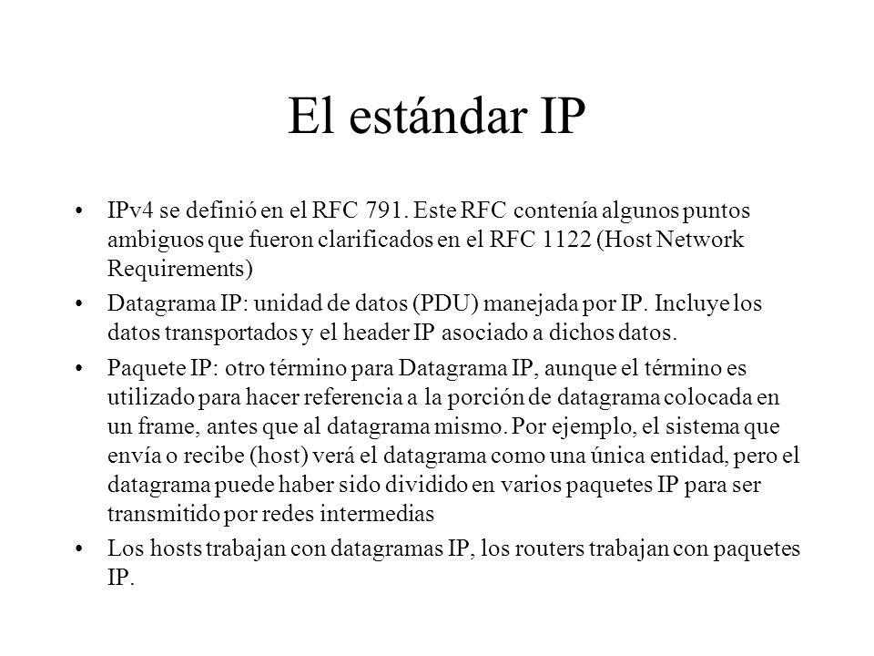 El estándar IP