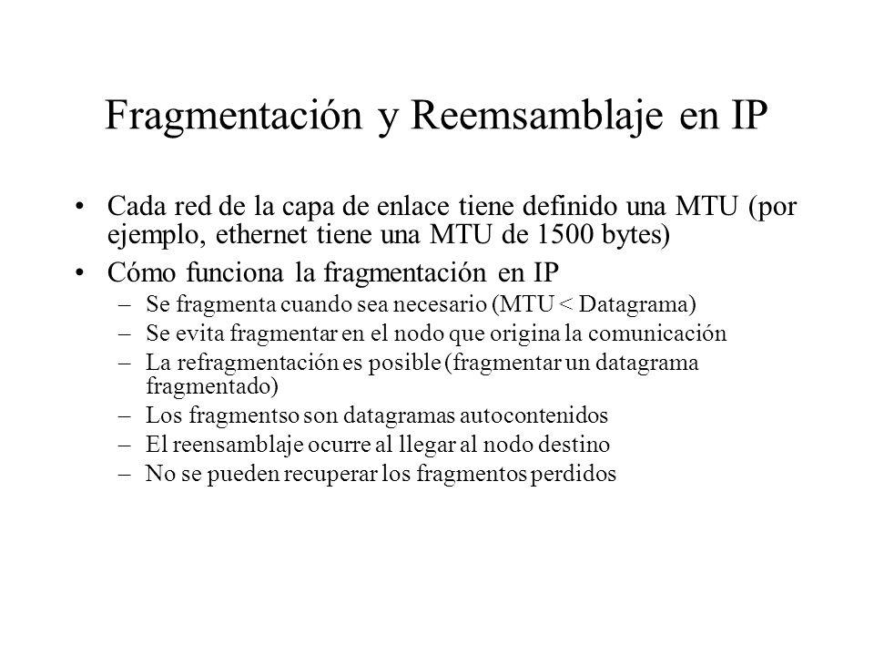 Fragmentación y Reemsamblaje en IP