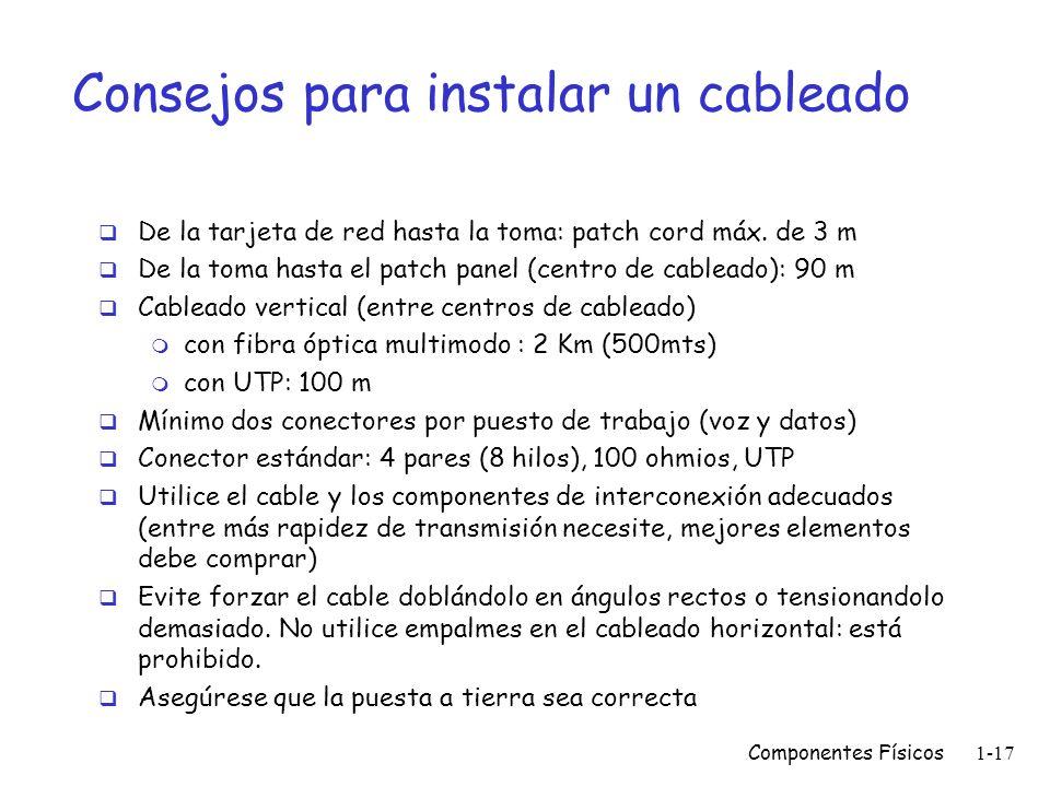 Consejos para instalar un cableado