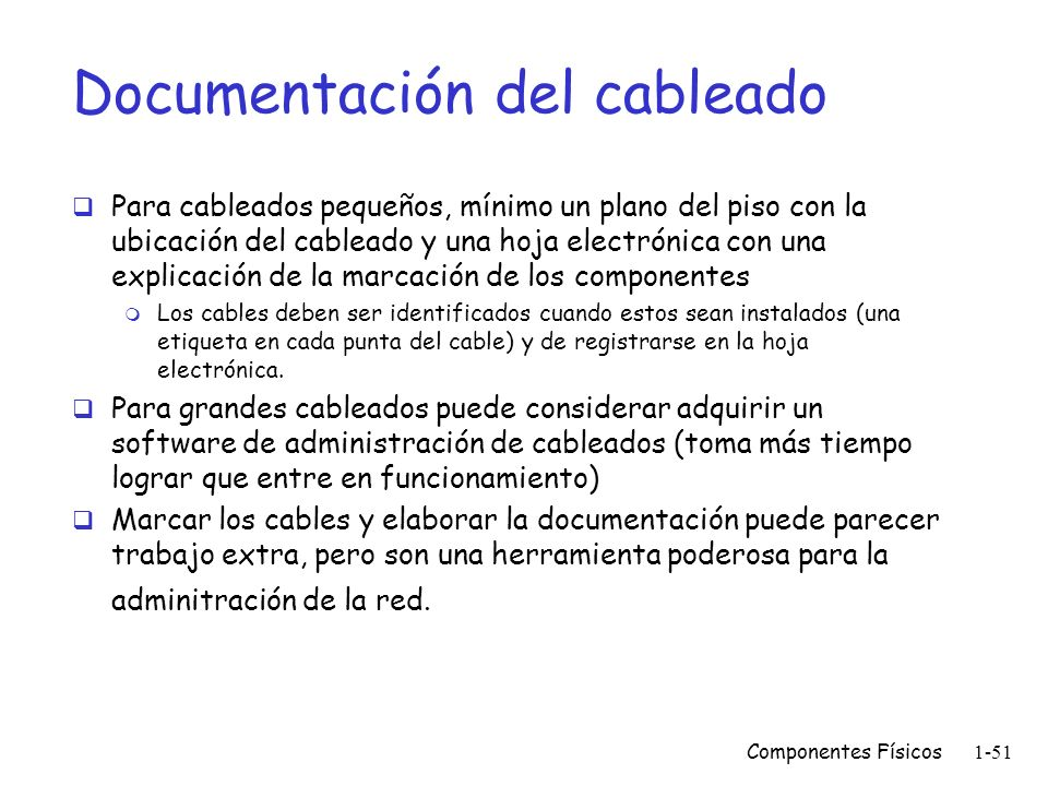 Documentación del cableado
