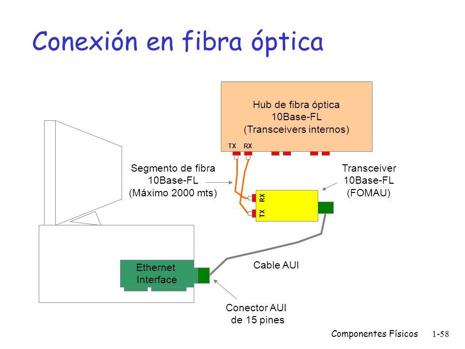 Conexión en fibra óptica