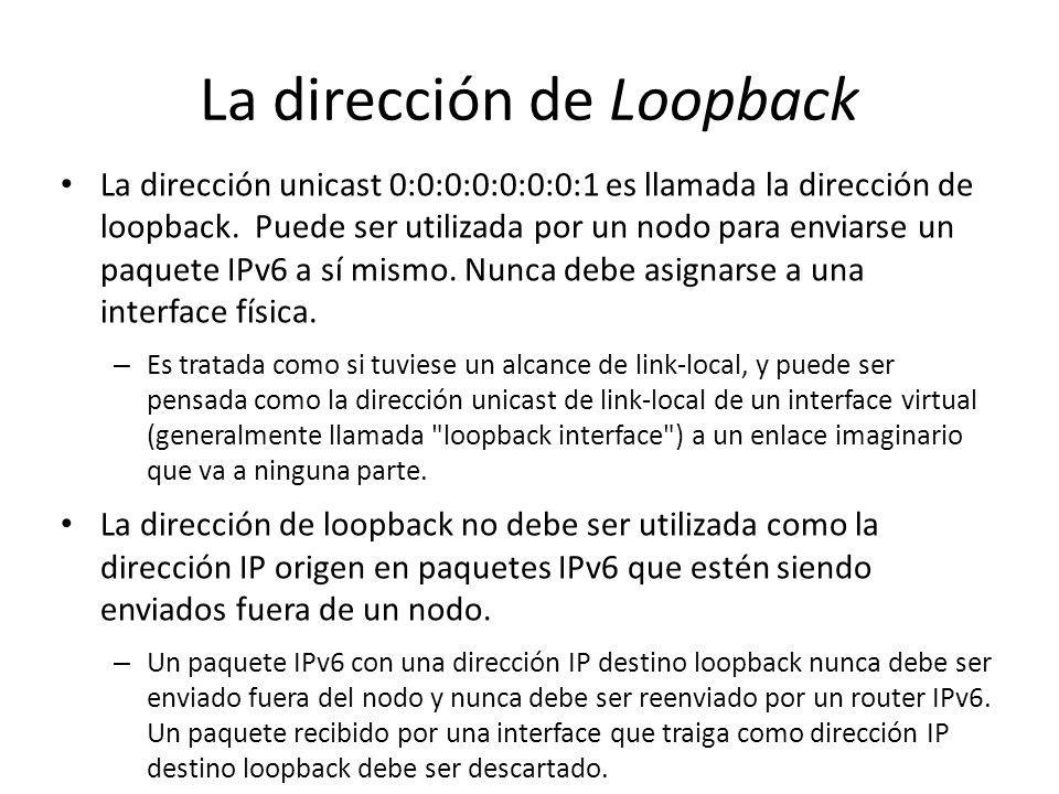 La dirección de Loopback
