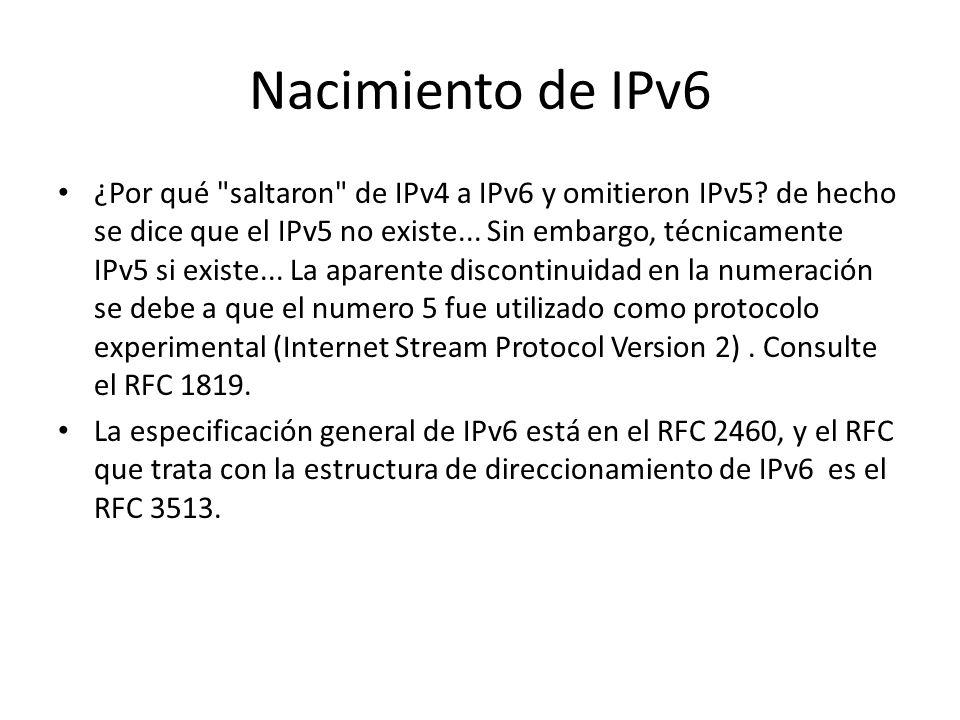Nacimiento de IPv6