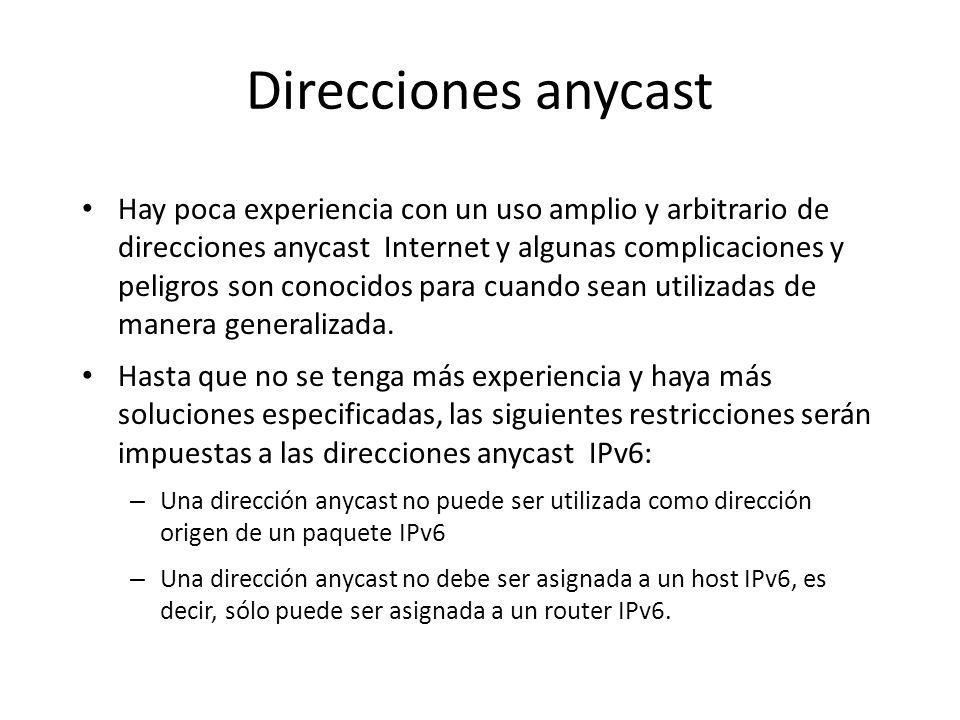 Direcciones anycast