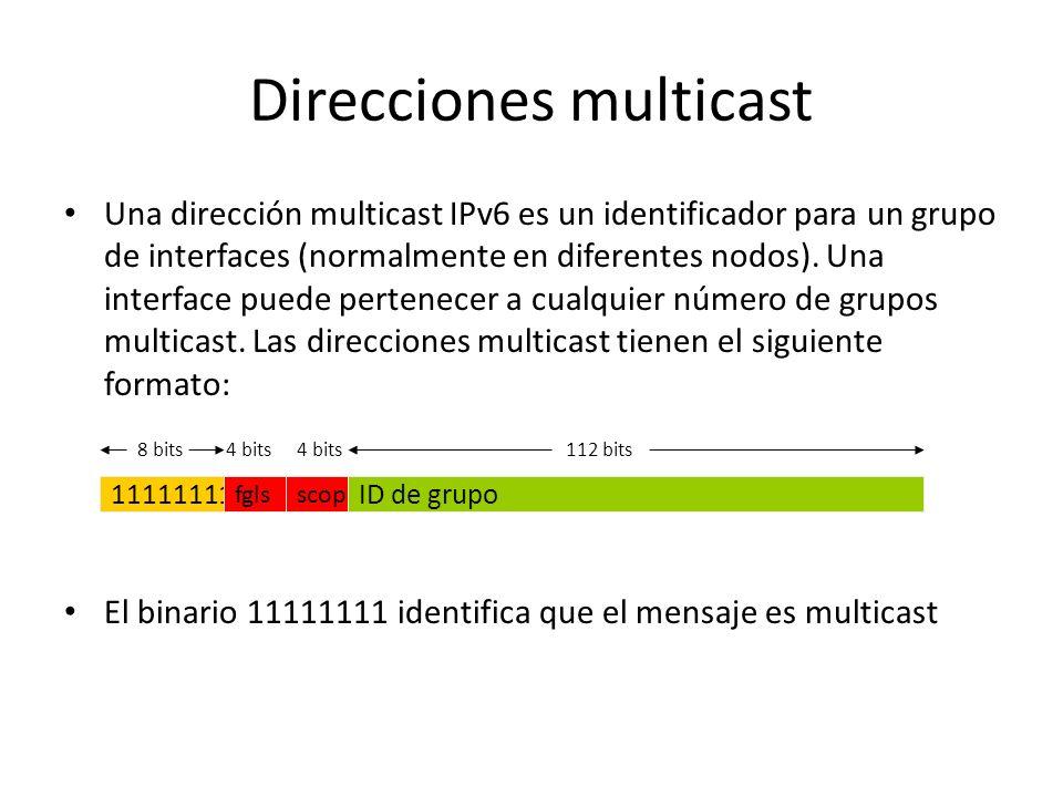 Direcciones multicast