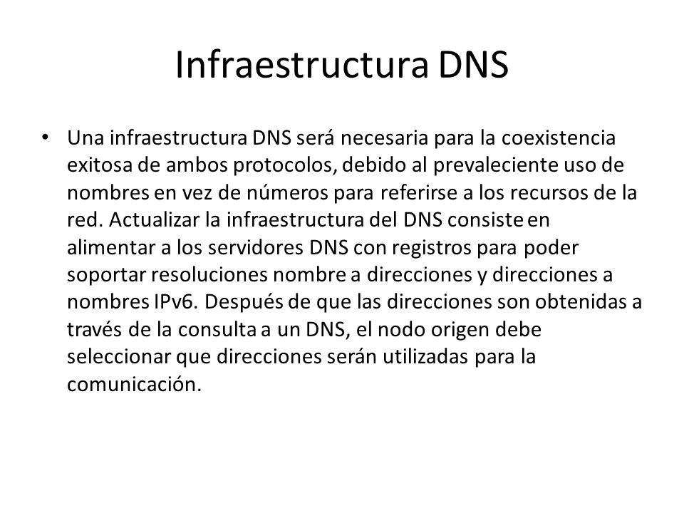 Infraestructura DNS